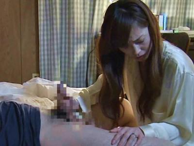 人妻+手コキ